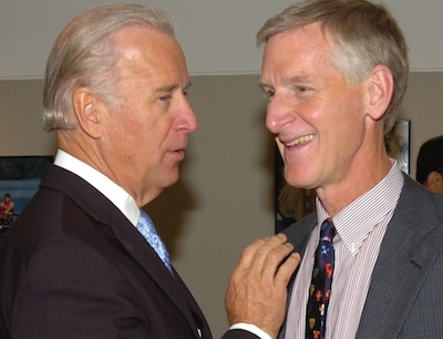 US Vice President Joseph Biden (LAW '68) and Professor William Banks.