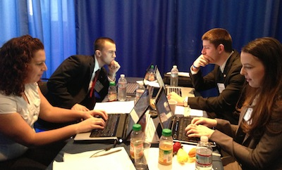 INSCT students at the Georgetown Law National Security Crisis Invitational, March 2013.