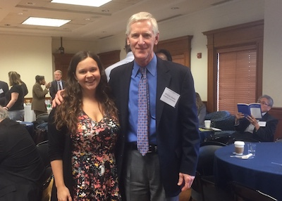 At The 2017 JNSLP Symposium In Washington, DC, INSCT Director (and JNSLP  Editor In Chief) William C. Banks Met With Alumna Danielle Wohlenberg (MPA  U002716; ...