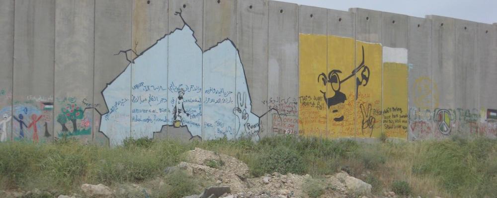 israeli west bank wall street art
