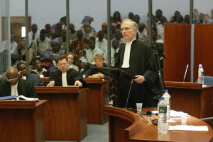 David M. Crane at the Special Court for Sierra Leone.