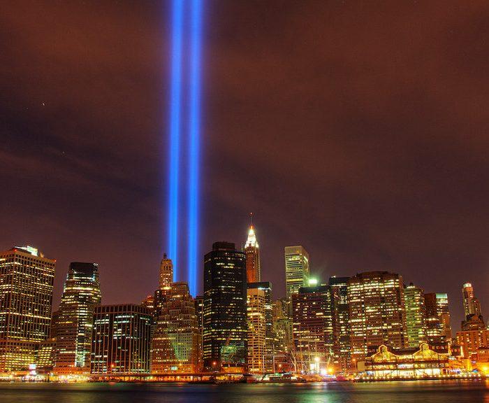Since 9/11: 9/11 memorial in light